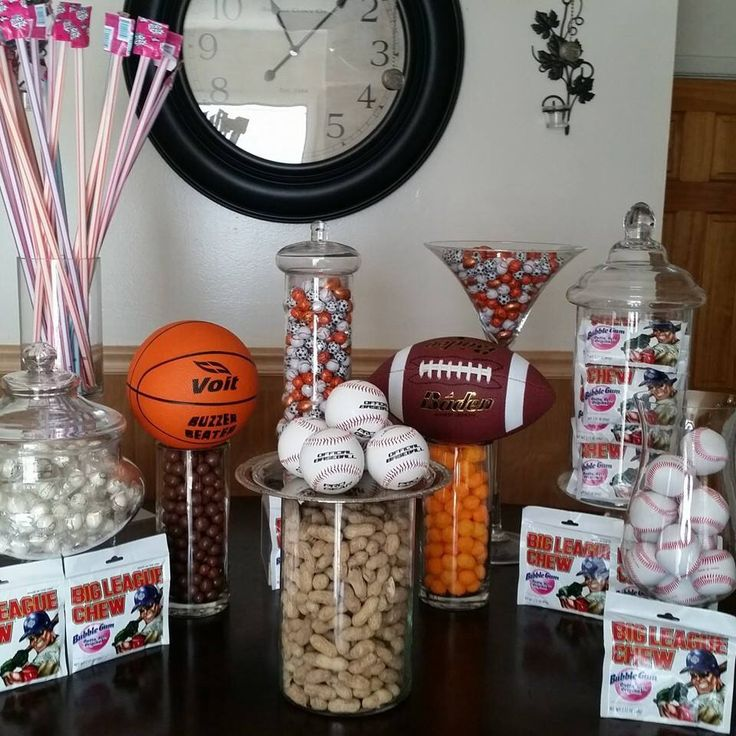 Sports candy theme candy buffet pinterest sports for All decoration games