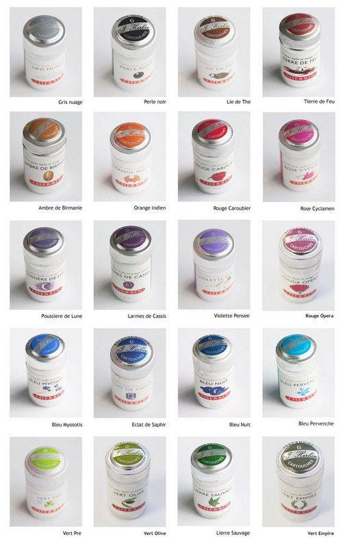 J Herbin ink cartridges  (pk 6)