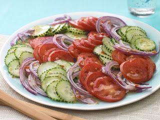 Receta de Cocina: Ensalada de tomate y pepino
