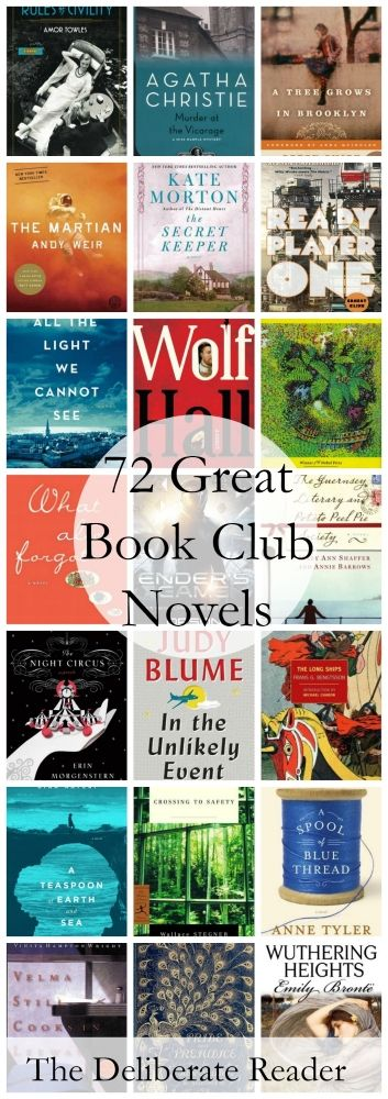 72 Great Novels Suitable For Book Clubs