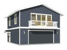 Garage apartment plan 1307 1bapt this is actually a for Garage apartment plans canada