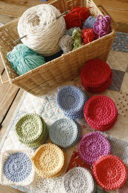 crochet circles - make a whole bunch, create a blanket by crocheting a square around the circles. No pattern, just fun inspiration!