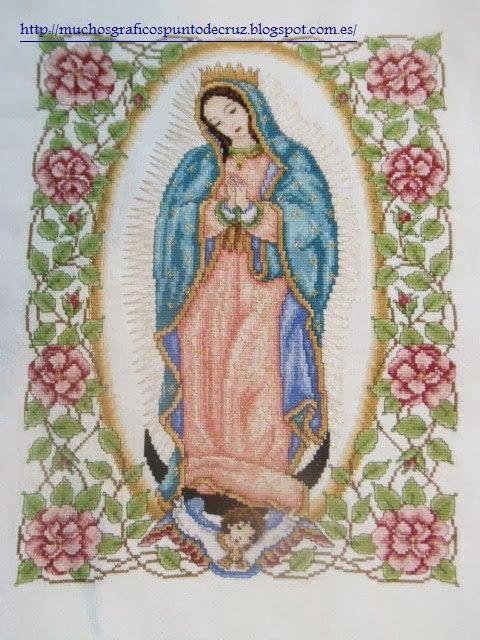 Virgen de guadalupe  GRAFICOS PUNTO DE CRUZ GRATIS : RELIGIOSO(26)