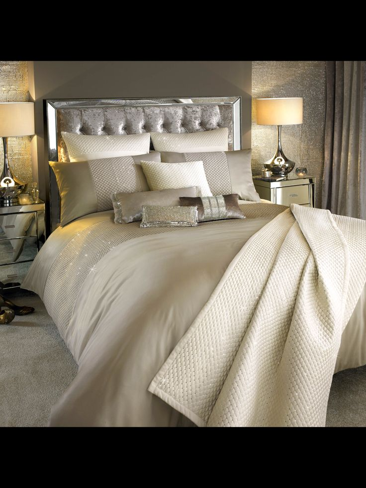 New for Autumn Winter 2016 Kylie Minogue Alba Bedding  Beautiful and contemporary bed linen with sparkling diamantè accents to create a truly luxurious finish.