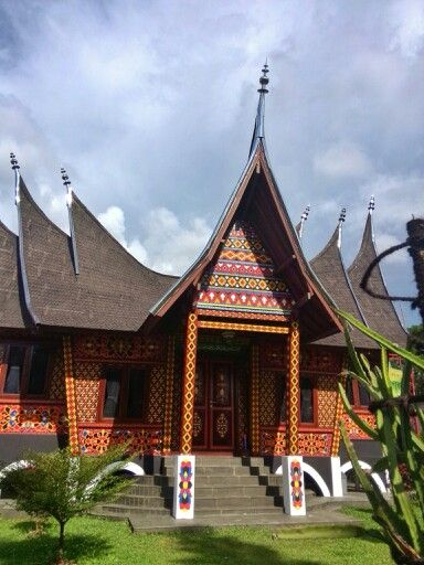Traditional house of minangkabau amazing Indonesia