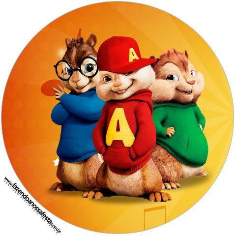 Latinhas, Toppers e Tubetes Alvin e os Esquilos