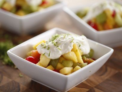 Mexican Fruit Cocktail with Sweet Lime Yogurt Recipe : Ree Drummond : Food Network