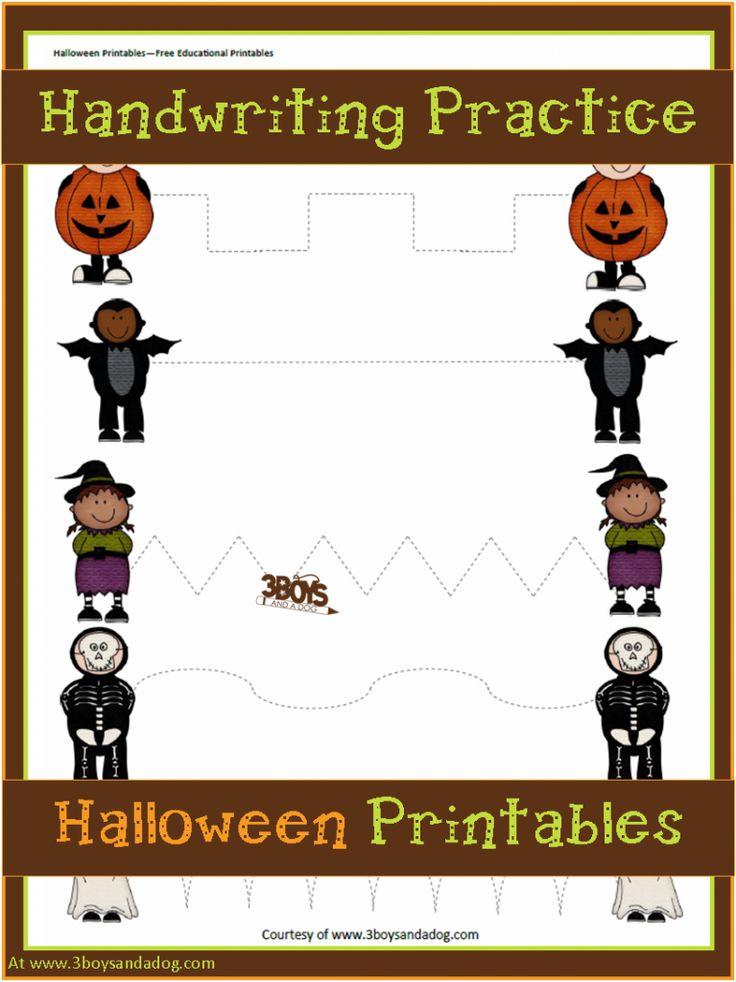 Halloween Printables: Preschool Handwriting Practice - These Halloween Printables: Preschool Handwriting Practice will help your preschool and kindergarten aged children work on motor skills and handwriting.