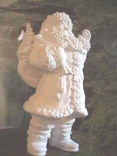 Large Santa, Waving Santa, Vintage Santa, Santa Claus, Christmas, Yard Ornament, Decoration, Statue, Ceramic Bisque, Ready to paint, u-paint