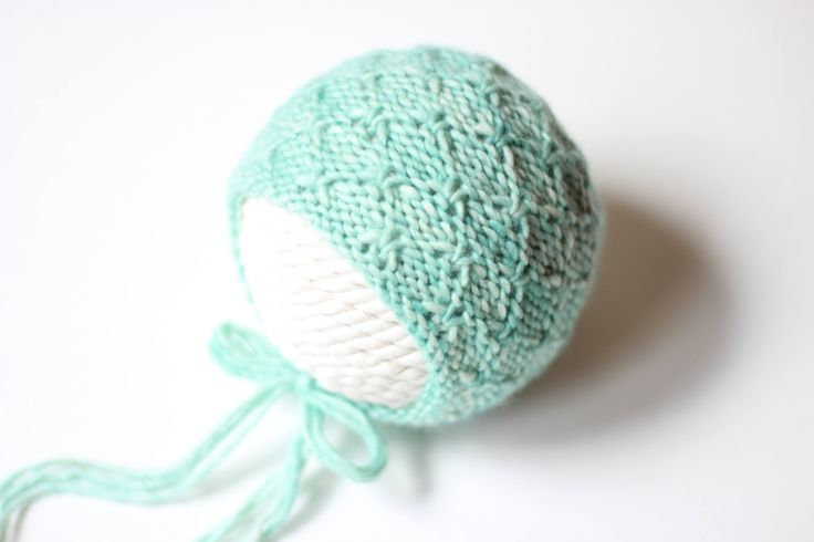 Knitting Pattern, Knit PDF Pattern,  Newborn Hat Pattern, PHOTO shoot prop,  Knit, Tutorial, PDF, Newborn hat, Aurora Bonnet by CreamoftheProp on Etsy