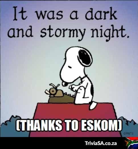 Thank you, Eskom