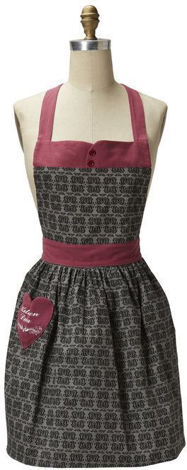 Beautiful apron for wearing around the house.