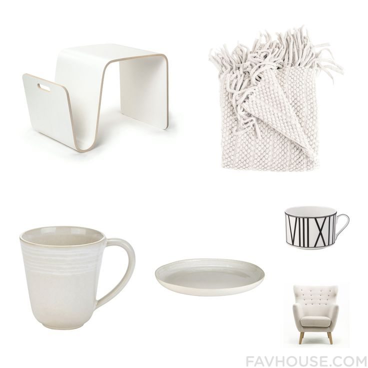Decor Collection Featuring Offi Accent Table Acrylic Blanket Murmur Drinkware And White Serving Platter From September 2015 #home #decor