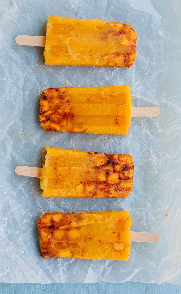 Mango Chili Lime Paletas - Mexican Popsicles For Cinco De Mayo Pineappleandcoconut.com #CincoDeMayo #holidayfoodblog