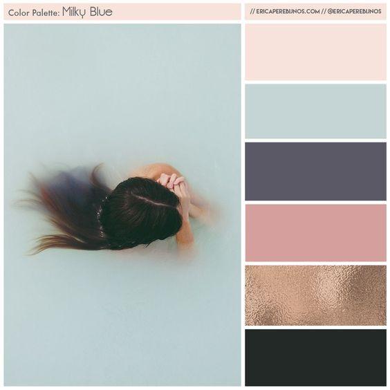Color Palette for @londonlight rebrand // ericaperebijnos.com // branding brand styling light pink navy blue copper blush: