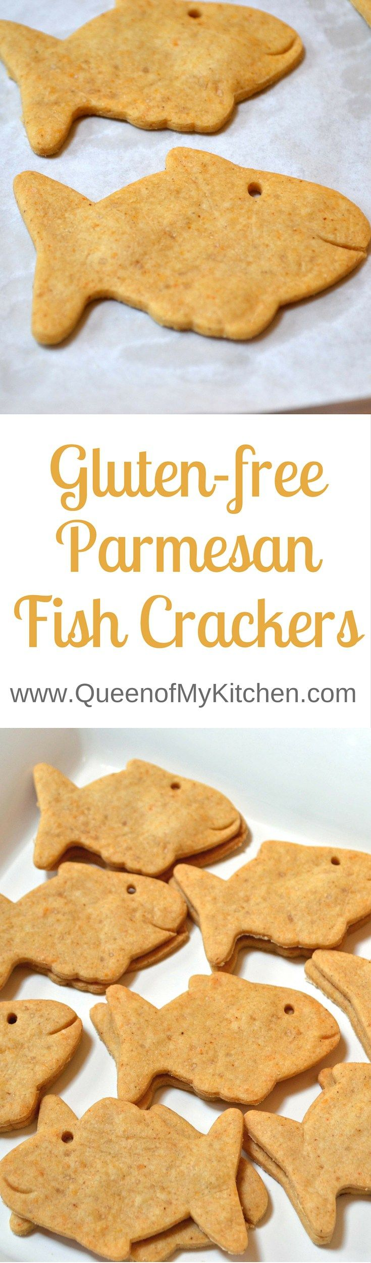 These Gluten Free Parmesan Fish crackers are a healthier version of the iconic Pepperidge Farm Goldfish crackers. | QueenofMyKitchen.com