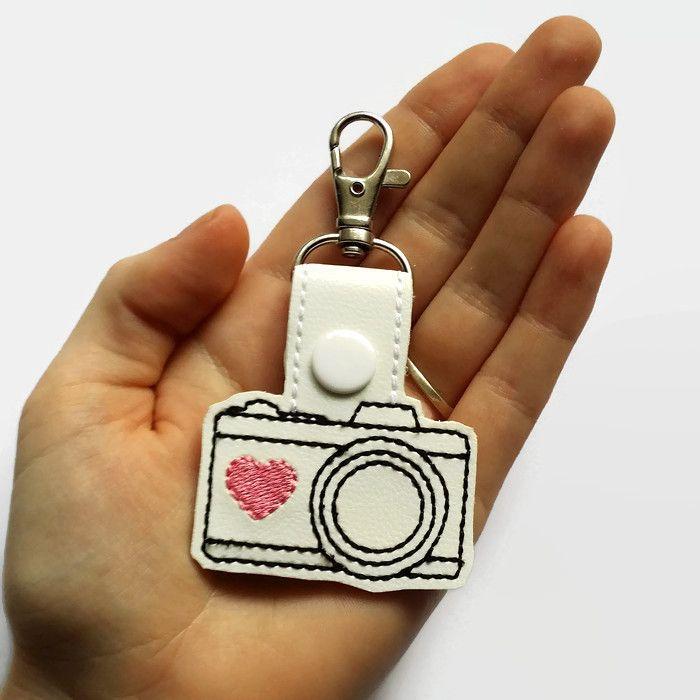 Heartfelt Fundraiser - Camera Snap Tab Keyring