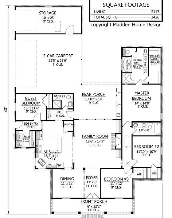 Texas Ranch Floor Plans Great Texas Style Ranch House Plan This Design Offers A