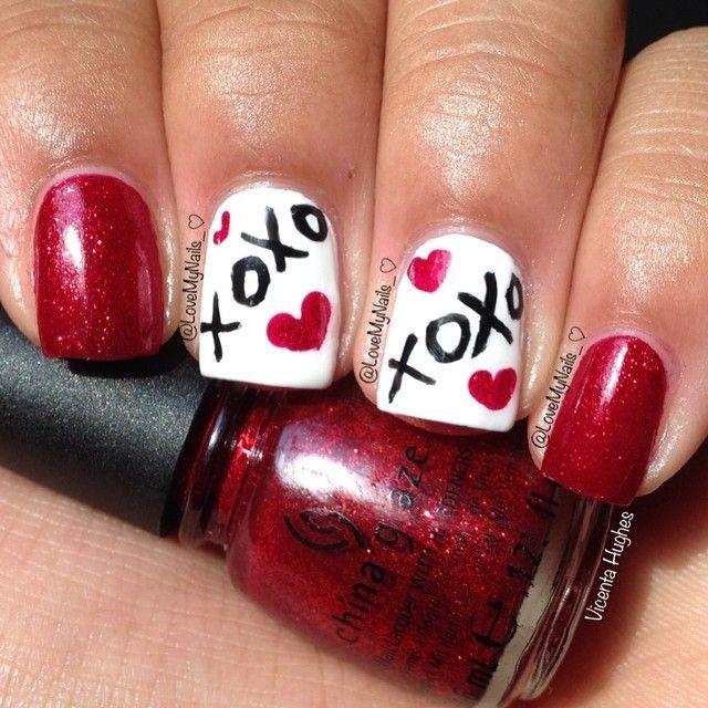 Best 25+ Valentine nail designs ideas on Pinterest | Valentine nails, Valentine  nail art and Valentine day nails - Best 25+ Valentine Nail Designs Ideas On Pinterest Valentine