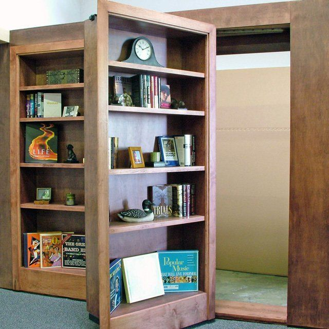 17 best images about secret door on pinterest for Secret storage bookcase