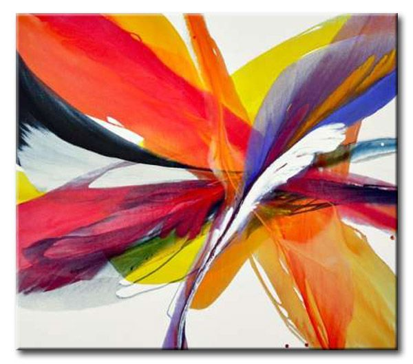 32_BTT03_G _ Romantica _ ltd. Ed 950 / Cuadro Abstracto, Plumas de Colores