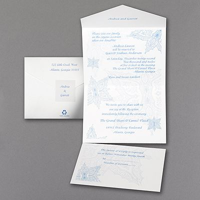 Stunning Snowflakes   Seal U0027n Send Lavishly Designed Snowflakes Create The  Background To Your Wording On This Bright White, Seal N Send Invitation.