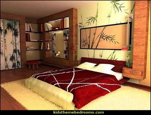 Oriental Interior Decorating Ideas For Bedroom   Perfect Setting For A Live  Orchid Arrangement