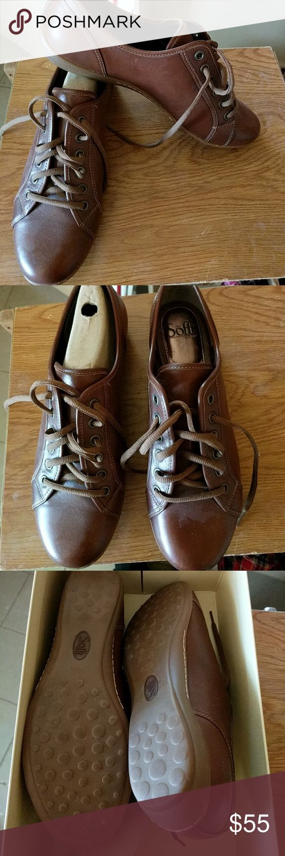 Portland cuero tan sofft shoes size 10 M New tan tie up shoes Shoes Sneakers