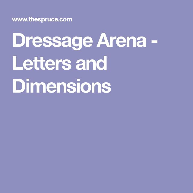 Dressage Arena - Letters and Dimensions