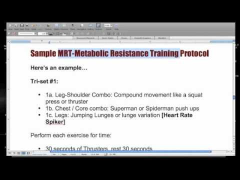 Use Metabolic Resistance Training To Accelerate Fat Loss