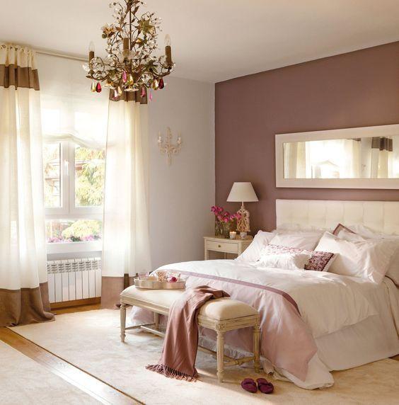 Dormitorio color Marrón y Morado.
