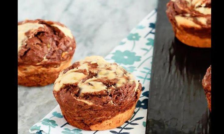 Mes muffins marbrés au yogourt grec ont un SUCCÈS FOU chaque fois que je les cuisine