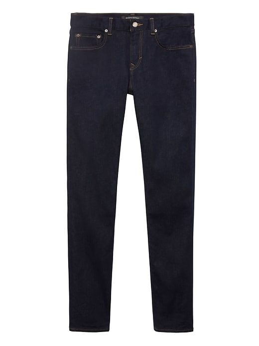 2f80653e Banana Republic Mens Athletic Tapered Rapid Movement Denim Stay Blue Jean  Stay Blue Wash