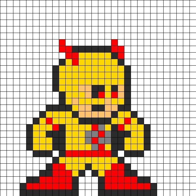 Reverse_flash_perler_bead_pattern by Groundhog7s on Kandi Patterns