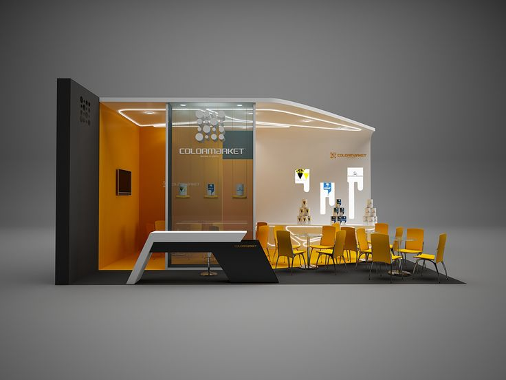 """Exhibition Stand for """"Colormarket"""" designed by GM design group #exhibitionstands #exhibition #stand #booth #gmdesigngroup #gmdesign #gm #design"""