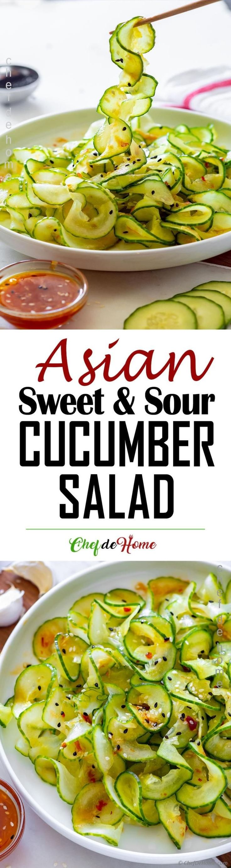 Asian Cucumber Salad If you love Cucumber and Asia…
