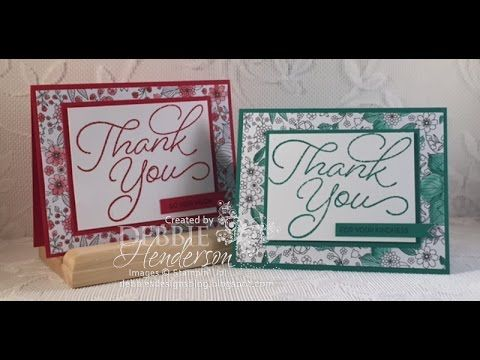 Stampin' Up! trainer Holly discusses the many ways to use the Stylish Stems Framelits Dies and Special Reasons Stamp Set from the 2017 occasions (spring/summ...