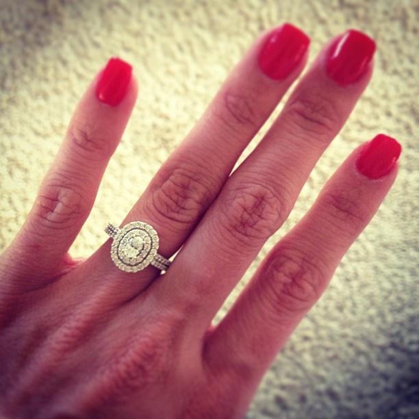 Oval Stone Double Halo Engagement Ring Wedding