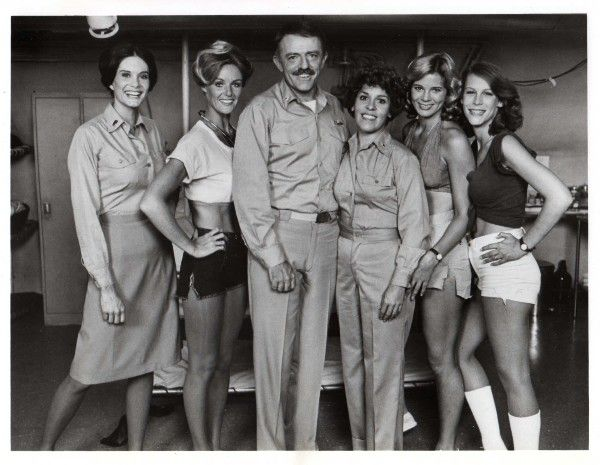 Cast members from Season 1 of Operation Petticoat including Bond Gideon, John Astin and Jamie Lee Curtis