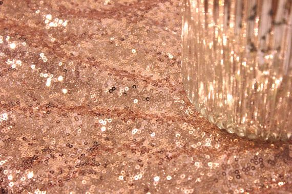 Sweetheart Table Blush Pink Champagne Sequin by SparkleSoiree, $125.00