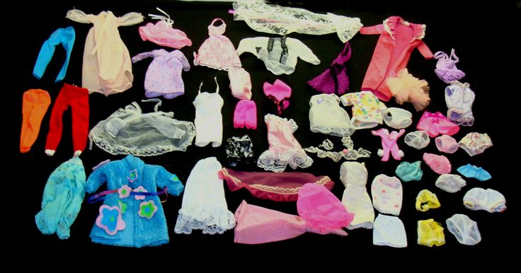 Vintage barbie doll clothes-Old Barbie clothes lot-vintage barbie underwear-barbie panties-doll clothes lot-barbie robe slip nightgown by BECKSRELICS on Etsy