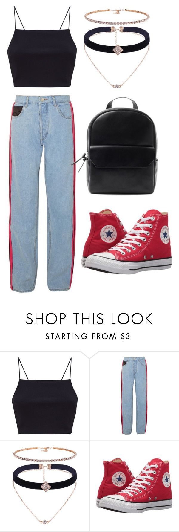 """""""•WHEN UR BORED IN FASHION CLASS•"""" by creativegurlsrbaexoxo ❤ liked on Polyvore featuring Koché and Converse"""