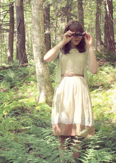Vintage Dress From Ebay, Thrifted Belt