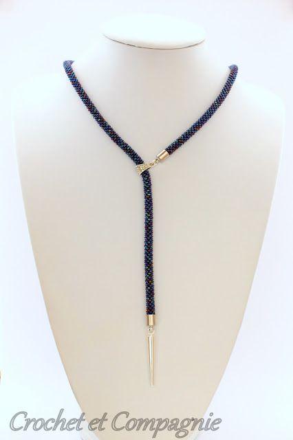 Crochet et compagnie: Collection des sautoirs asymétriques