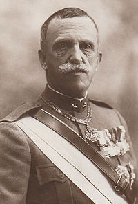 Victor Emmanuel III (1869 - 1947). King of Italy from 1900 until 1946, when he abdicated. He married Elena of Montenegro, and had give children. He died in 1947.