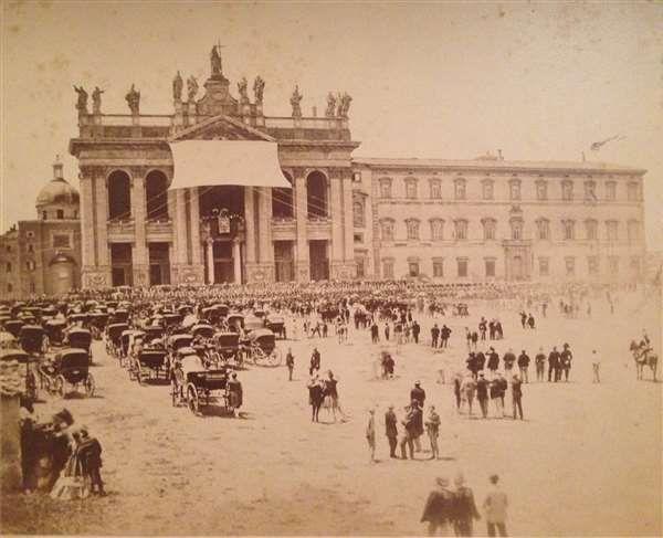 1868 circa Altobelli Gioacchino . S. Giovanni in Laterano, benedizione papale.