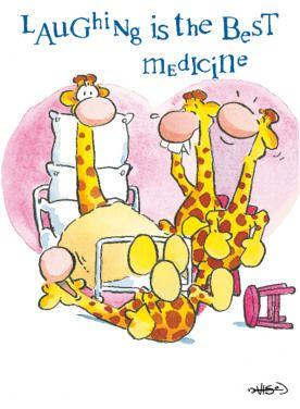 Giraffen op ziekenbezoek- Greetz