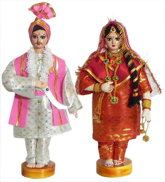 Панджаби жениха и невесты - Ткань
