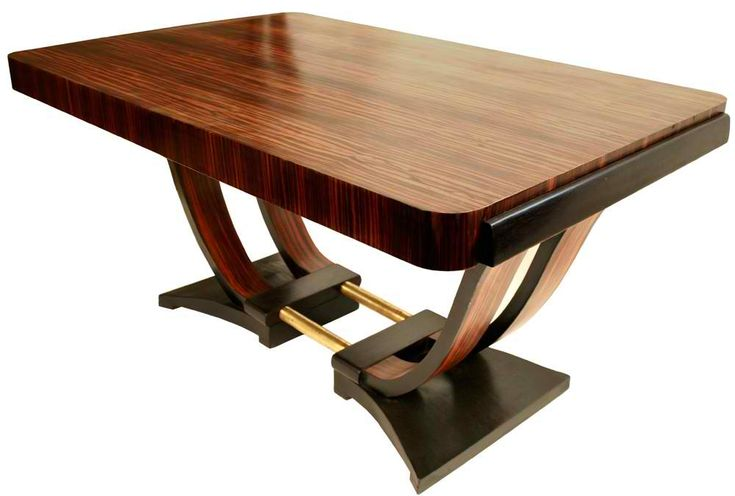 French Art Deco Dining Room Table