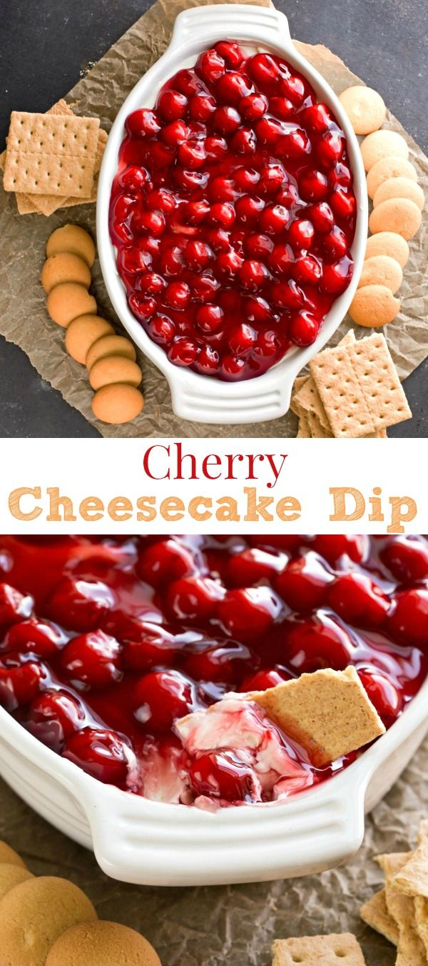 Cherry Cheesecake Dip Recipe - a lighter, healthier way to enjoy cheesecake.